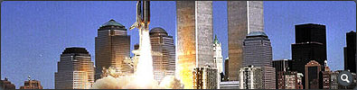 Shuttle launching in New York City Graphic - Click to see full-size image